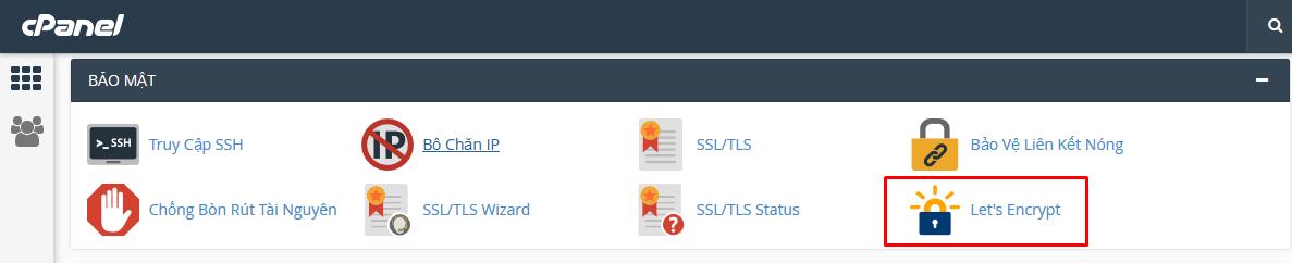 Cài đặt SSL cho Website miễn phí từ cPanel với Let's Encrypt