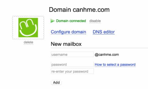 tạo tài khoản mail theo tên miền riêng