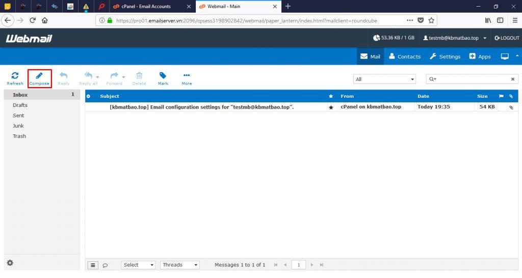 bắt đầu soạn email
