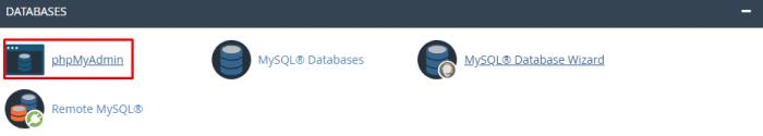 đăng nhập phpmyadmin