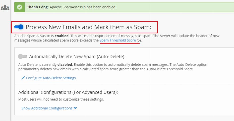 Hướng dẫn sử dụng Spam Filters trên Email hosting 7