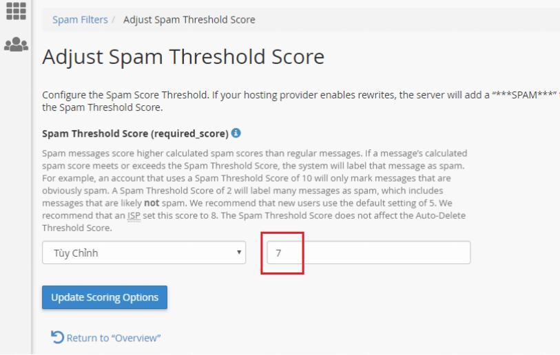 Hướng dẫn sử dụng Spam Filters trên Email hosting 8