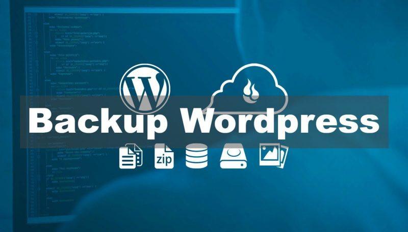 Wordpress Backup e1559672086669 800x456 - Hướng dẫn bảo mật WordPress thông qua 12 bước - Trung tâm hỗ trợ kỹ thuật