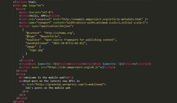 Mẫu AMP HTML