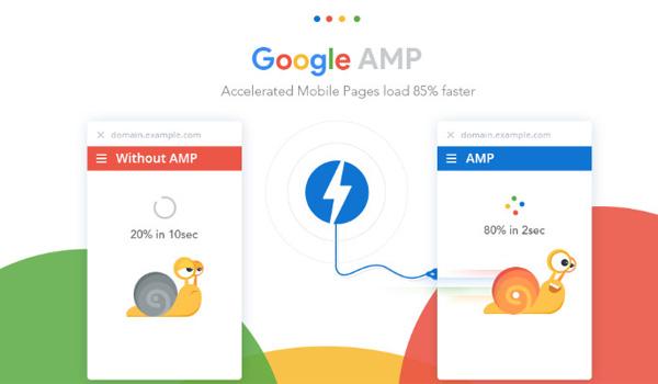 Trang AMP là công nghệ giúp tải trang nhanh hơn trang không có AMP từ 15-80%