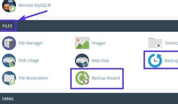 Backup web của bạn với cPanel