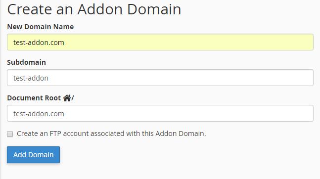 Bạn có thể tạo thêm Addon Domain vào hosting cPanel