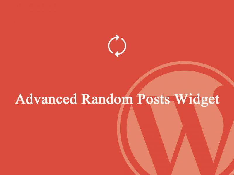 Advanced Random Posts Widget là plugin cho phép bạn tạo widget hiển thị các bài viết ngẫu nhiên