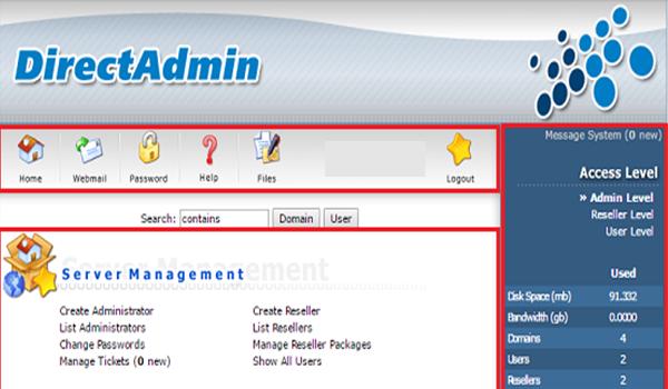 DirectAdmin phù hợp với đa số máy tính có cấu hình khác nhau