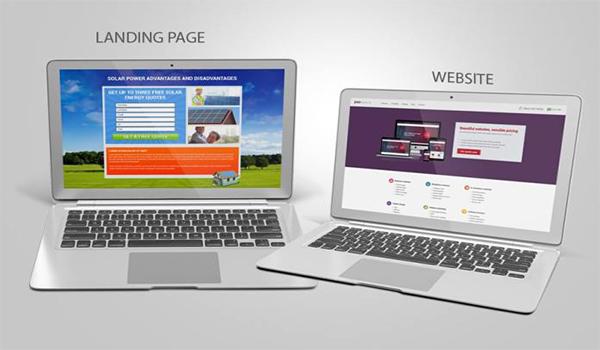 Landing Page có nhiều điểm khác biệt so với một website thông thường