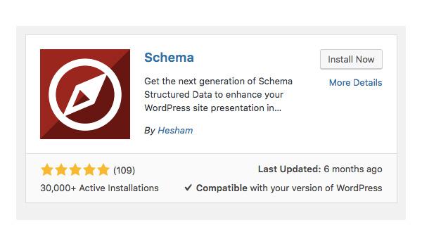 """Cài đặt Schema Plugin bằng cách click vào nút """"Install now"""""""