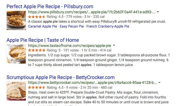 Công thức (Recipes) là một schema phổ biến