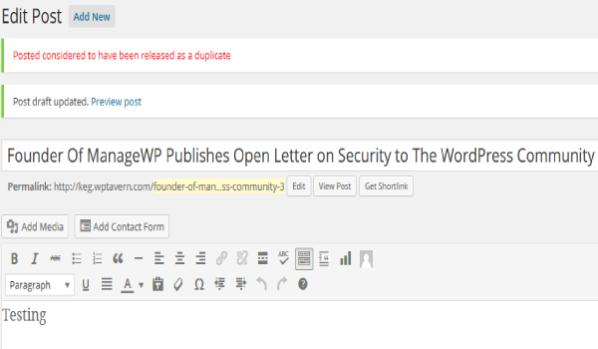 Việc trùng Slug trong WordPress sẽ gây ảnh hưởng xấu đến trang web của bạn