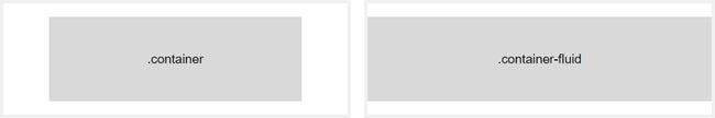 Ví dụ cho 2 loại containers Bootstrap 4 là fixed width container và full width container