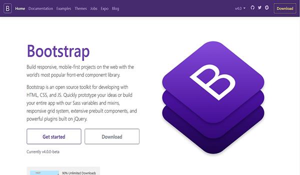 Có thể tải Bootstrap từ nguồn trang riêng và cài đặt ở máy