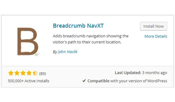 Sử dụng NavXT là một cách để thêm Breadcrumbs vào website WordPress dễ dàng