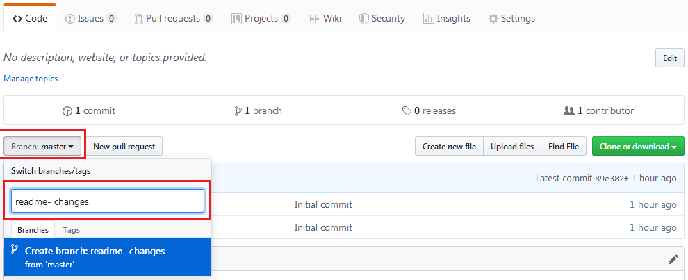Đây là các lưu ý tạo Branch GitHub