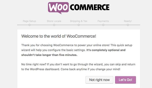 WooCommerce là gì? Hệ thống hiển thị thông báo chào mừng