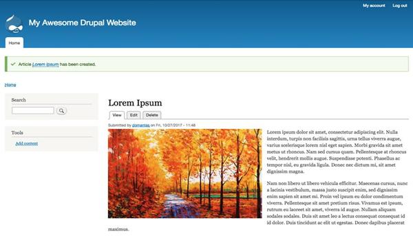 Drupal là gì? Tạo Blog trên Drupal 8 với những thao tác cực kì đơn giản