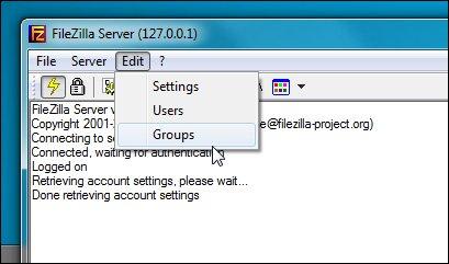 FIlezilla là gì? Tạo group trên FileZilla Server