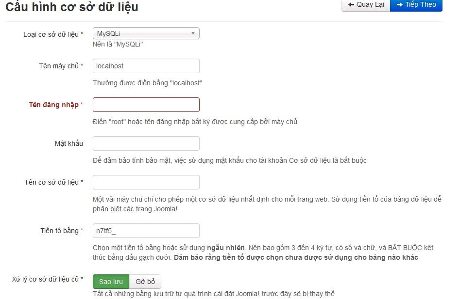 Joomla là gì? Cấu hình cơ sở dữ liệu trên Joomla