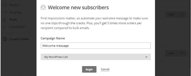Trên màn hình tiếp theo, bạn sẽ thấy cơ bản email chào mừng của bạn trông như thế nào. Mặc định, nó sẽ tự động gửi tới người mới đăng ký sau 1 ngày đăng ký. Bạn có thể thay đổi bằng cách click vào nút Edit Trigger: