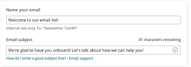 Bạn có thể tùy chỉnh nội dung của email bằng cách click vào nút Design Email: