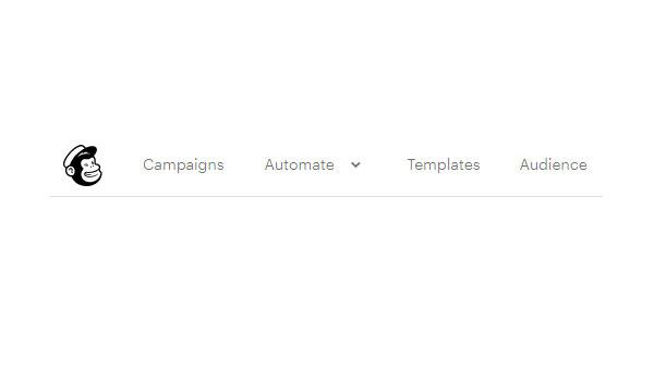 Cửa sổ làm việc chính của MailChimp