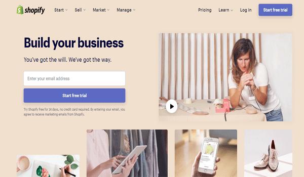 Shopify là gì? Giao diện Shopify