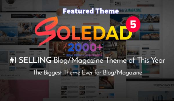 Soledad là một trong những theme WordPress tin tức hàng đầu hiện nay được nhiều người lựa chọn