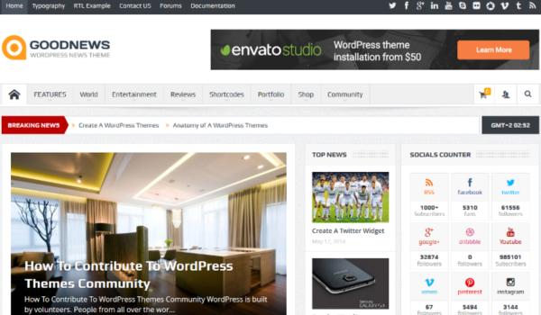 Theme WordPress chuẩn SEO. Goodnews là nơi cung cấp theme WordPress đáng tin cậy mang đến nhiều demo để bạn thỏa sức lựa chọn