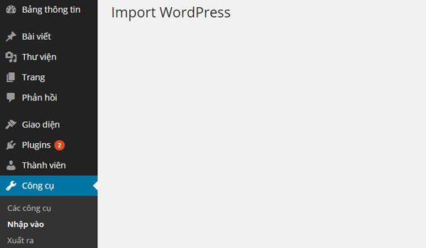 WordPress Importer là gì? có thể xảy ra lỗi