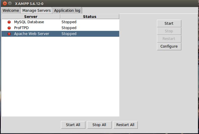 Bây giờ giống như trên Windows, bạn có thể chọn dịch vụ để khởi động lên.