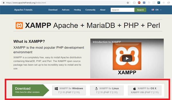 XAMPP là gì? Phiên bản XAMPP mới nhất là phiên bản 7.2.11 phát hành năm 2018