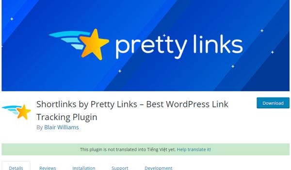 Short Links By Pretty Links là plugin hỗ trợ like, share Social cực kì hữu ích