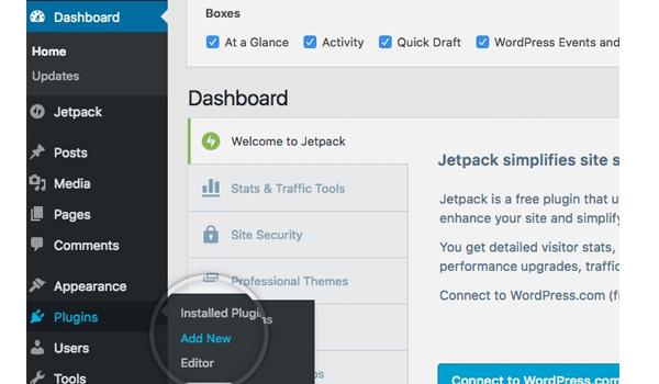 Cách đơn giản nhất để cài đặt plugin cho WordPress là thông qua Dashboard