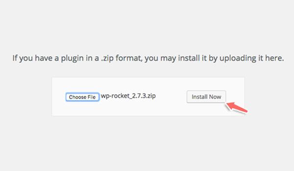 """Click """"Choose file""""họn file plugin từ máy tính"""