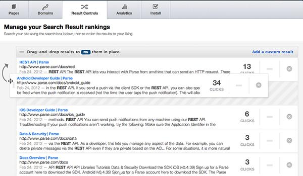 Với Swiftype Search, bạn có thể đặt lại kết quả tìm kiếm để quảng bá bài viết của mình