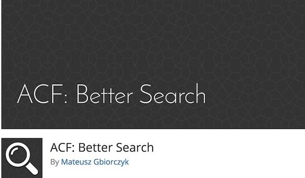 ACF cho phép khách hàng tìm kiếm nội dung khác nhau dựa trên các lĩnh vực mà họ chọn