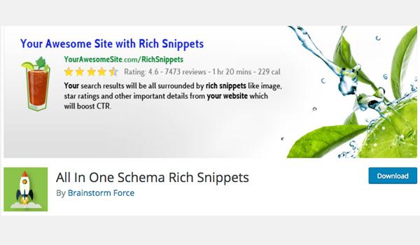 Plugin WordPress SEO - All in One Schema Rich Snippets là plugin cải thiện khả năng hiển thị của website trên trang tìm kiếm