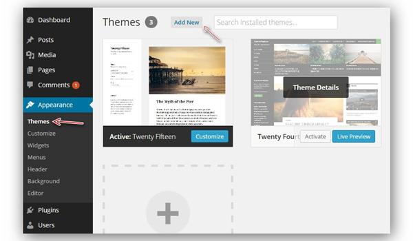 Bước 1: Đăng nhập trang quản trị Admin trên WordPress.