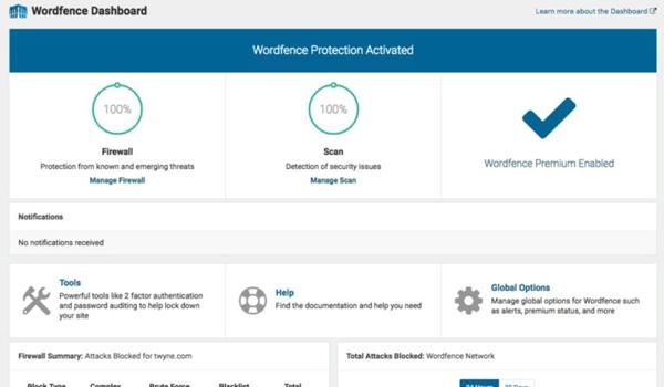 WordFence Security giúp bảo mật website hiệu quả
