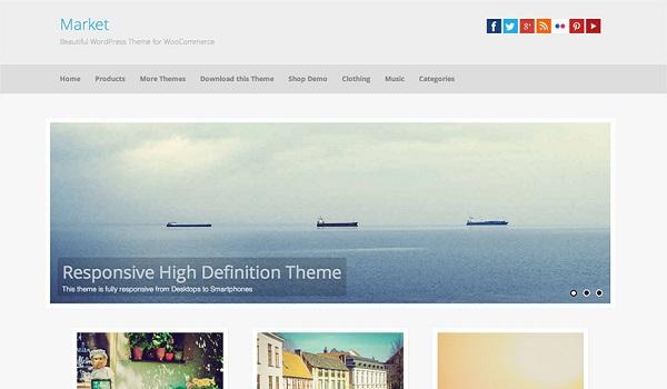 Theme WordPress WooCommerce Market hướng đến sự sáng tạo nhưng không quá cầu kỳ phức tạp, phù hợp với những trang web cần có sự đơn giản