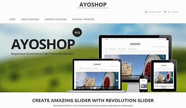 Theme WordPress WooCommerce AyoShop là siêu phẩm đáng trải nghiệm nhất của Theme WordPress WooCommerce