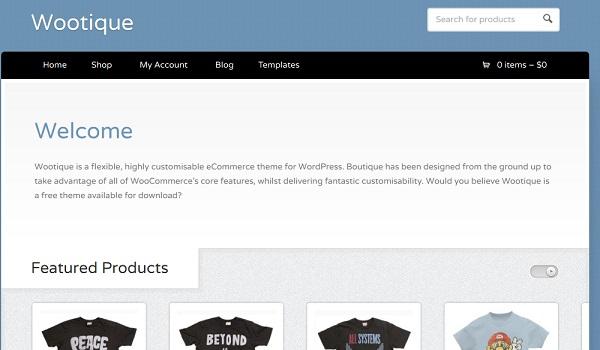 Wootique có thiết kế khá đơn giản nhưng được hỗ trợ các tính năng tốt nhất của WooFramework