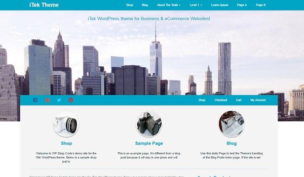 iTek là theme hướng đến sự thanh lịch, sang trọng và chuyên nghiệp phù hợp với nhiều loại website kinh doanh khác nhau