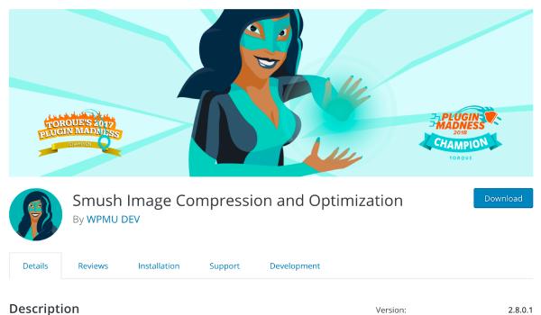 WP Smush.It là plugin WordPress giúp giảm dung lượng hình ảnh xuống thấp nhất nhưng không ảnh hưởng đến chất lượng ảnh
