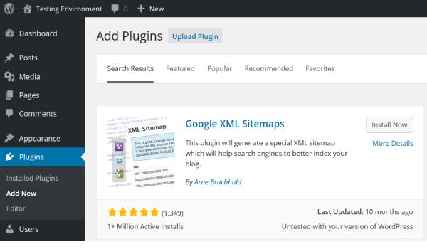 Google XML Sitemap for Images là plugin rất được sử dụng phổ biến hiện nay