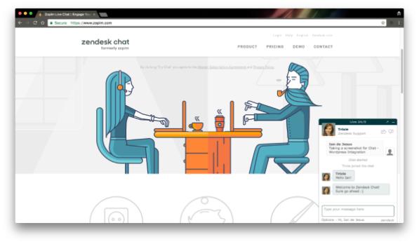 Việc trò chuyện trực tiếp trên trang web đã trở nên dễ dàng nhờ ZenDesk Chat