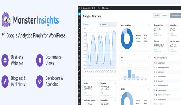 Plugin WordPress miễn phí -Với MonsterInsights Lite, việc liên kết tài khoản Google Analytics với trang web trở nên dễ dàng hơn nhiều